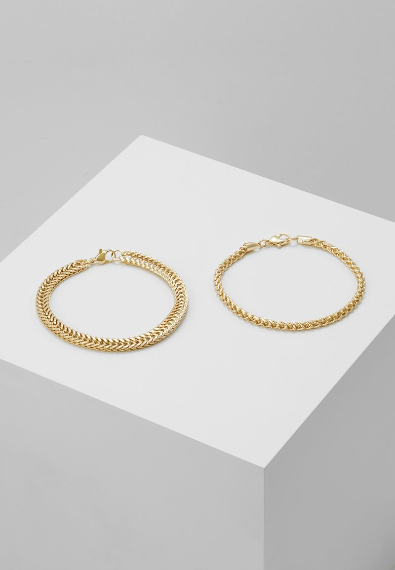 Topman - CHAIN 2 PACK - Bracelet - gold-coloured