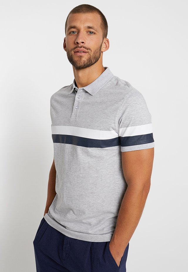 Polo - mottled light grey