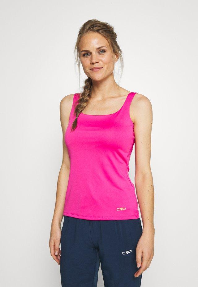 WOMAN DOUBLE - T-shirt de sport - bouganville