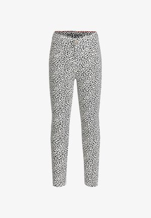 CROPPED - Trousers - black / white