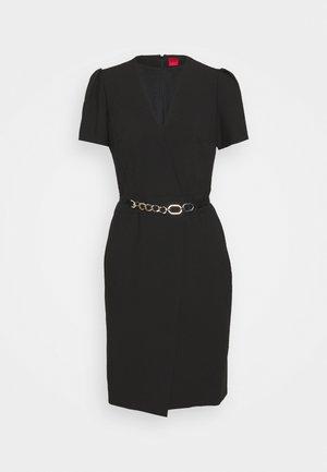 KHALESI DOUBLE - Shift dress - black
