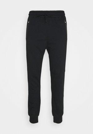 BONDED ZIPPER SLIM FIT  - Pantalon de survêtement - black