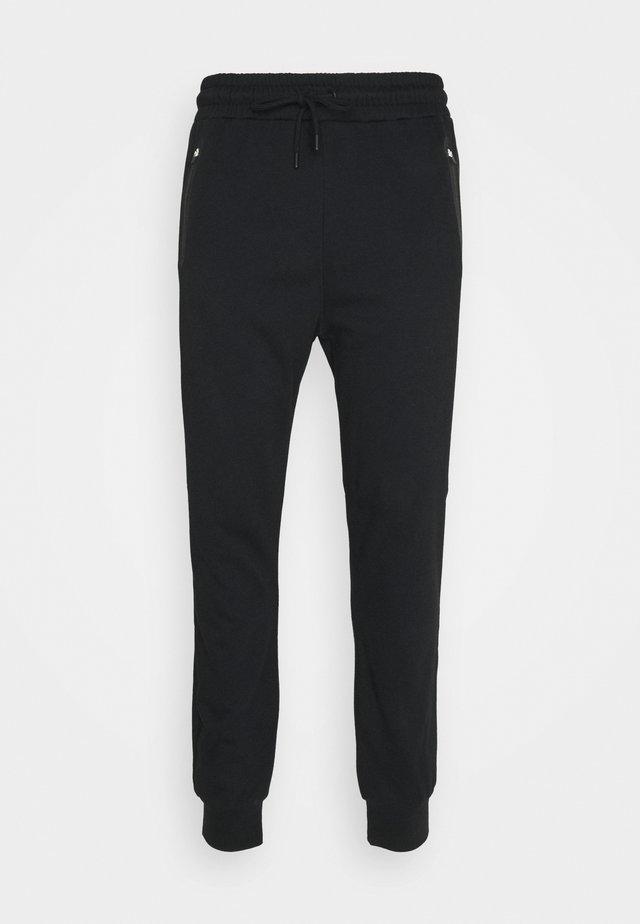 BONDED ZIPPER SLIM FIT  - Pantaloni sportivi - black