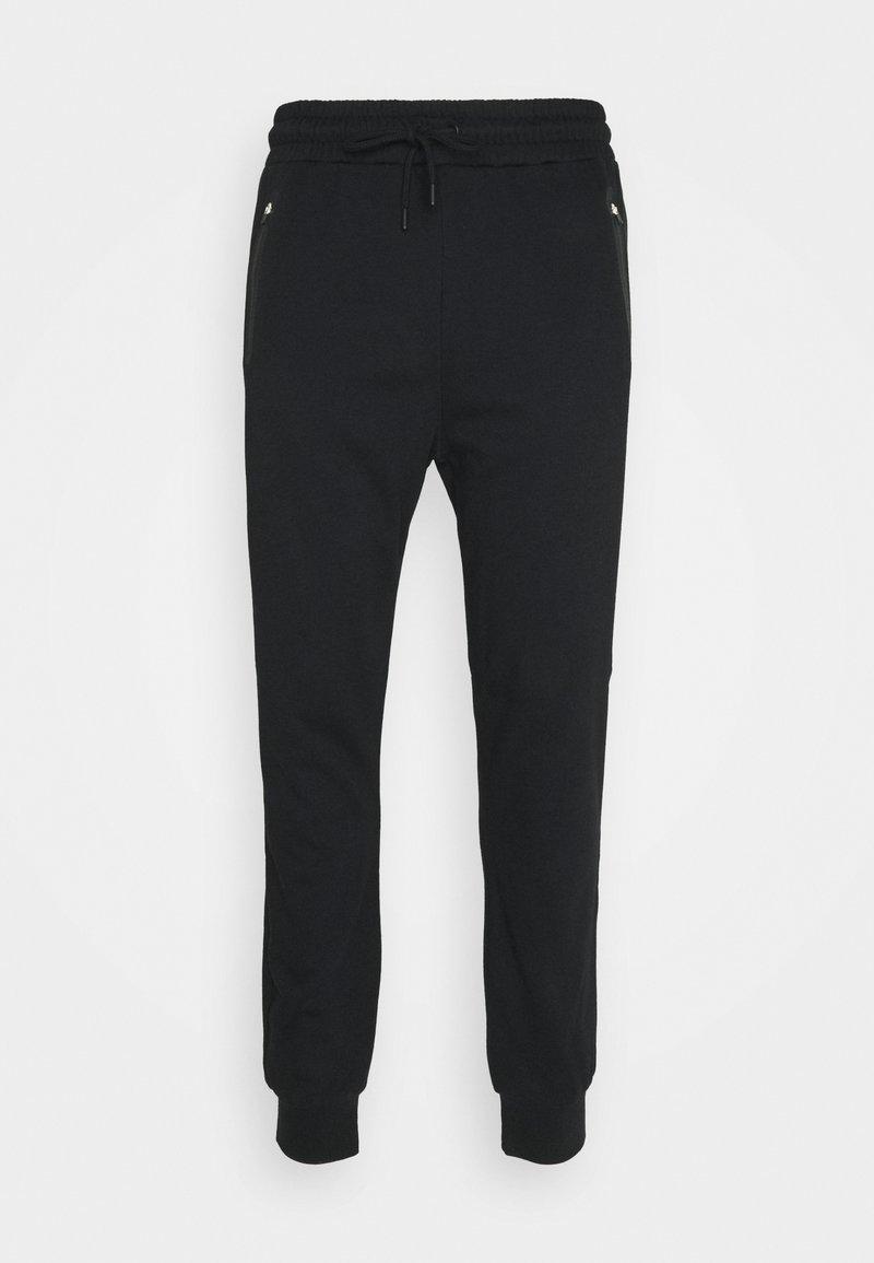 NU-IN - BONDED ZIPPER SLIM FIT  - Tracksuit bottoms - black