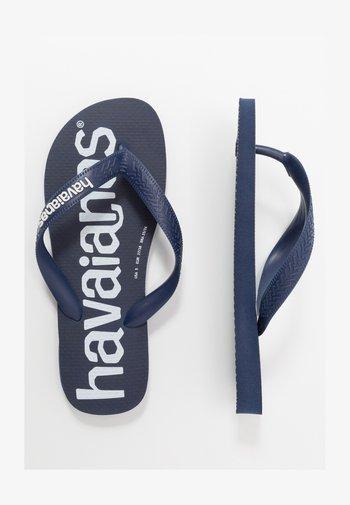 TOP LOGOMANIA  - Pool shoes - navy  blue  white