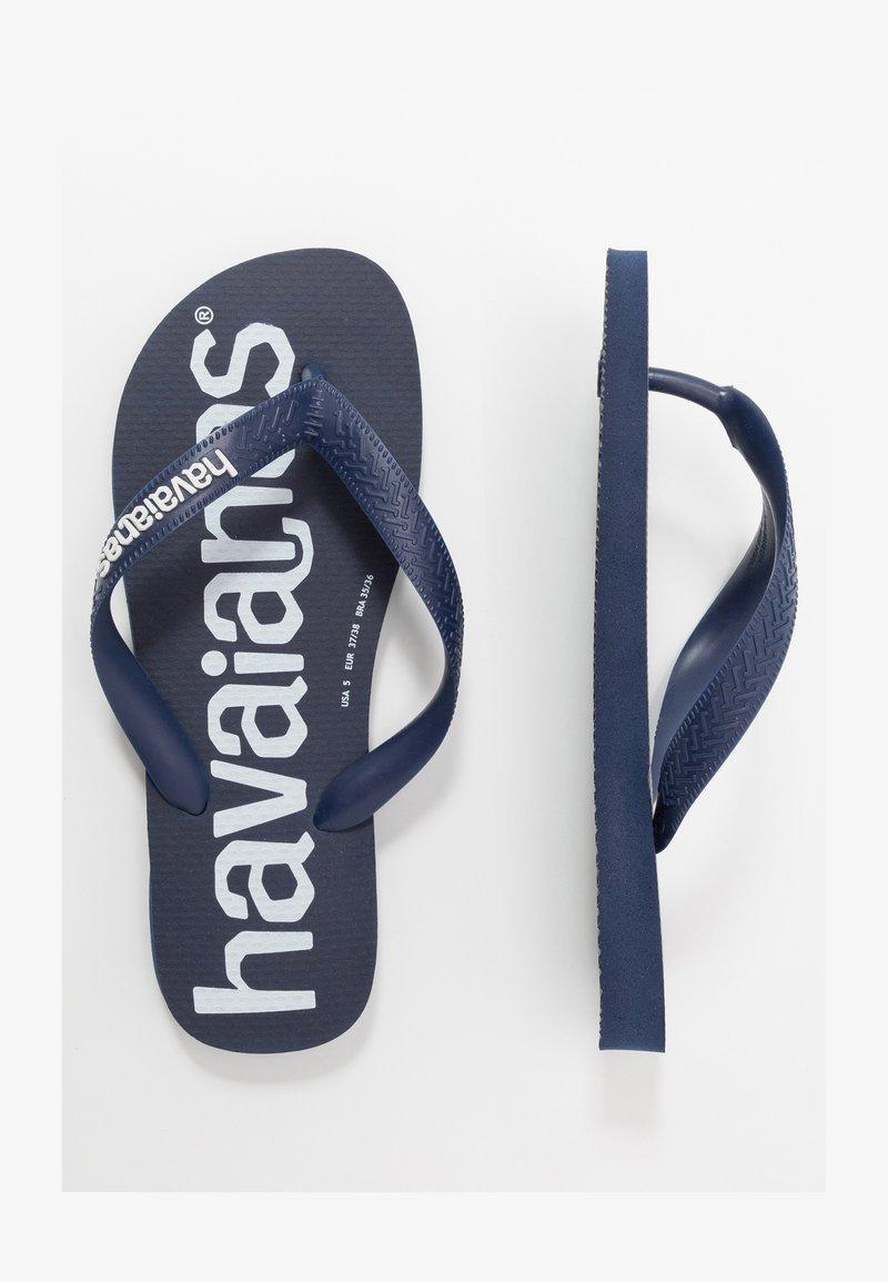 Havaianas - TOP LOGOMANIA  - Pool shoes - navy  blue  white