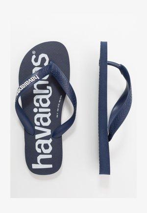 TOP LOGOMANIA UNISEX - Tongs - navy blue