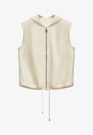 MIT KAPUZE  - Waistcoat - white