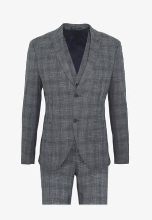 BLUE CHECK 3PCS SUIT SUIT - Jakkesæt - blue