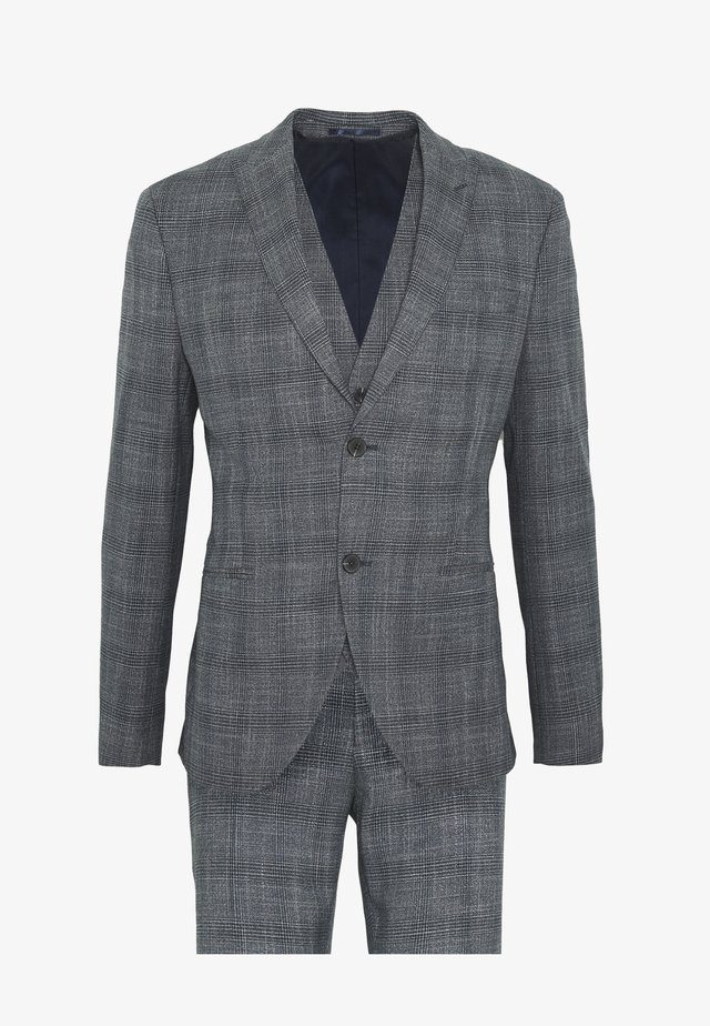 BLUE CHECK 3PCS SUIT SUIT - Kostuum - blue