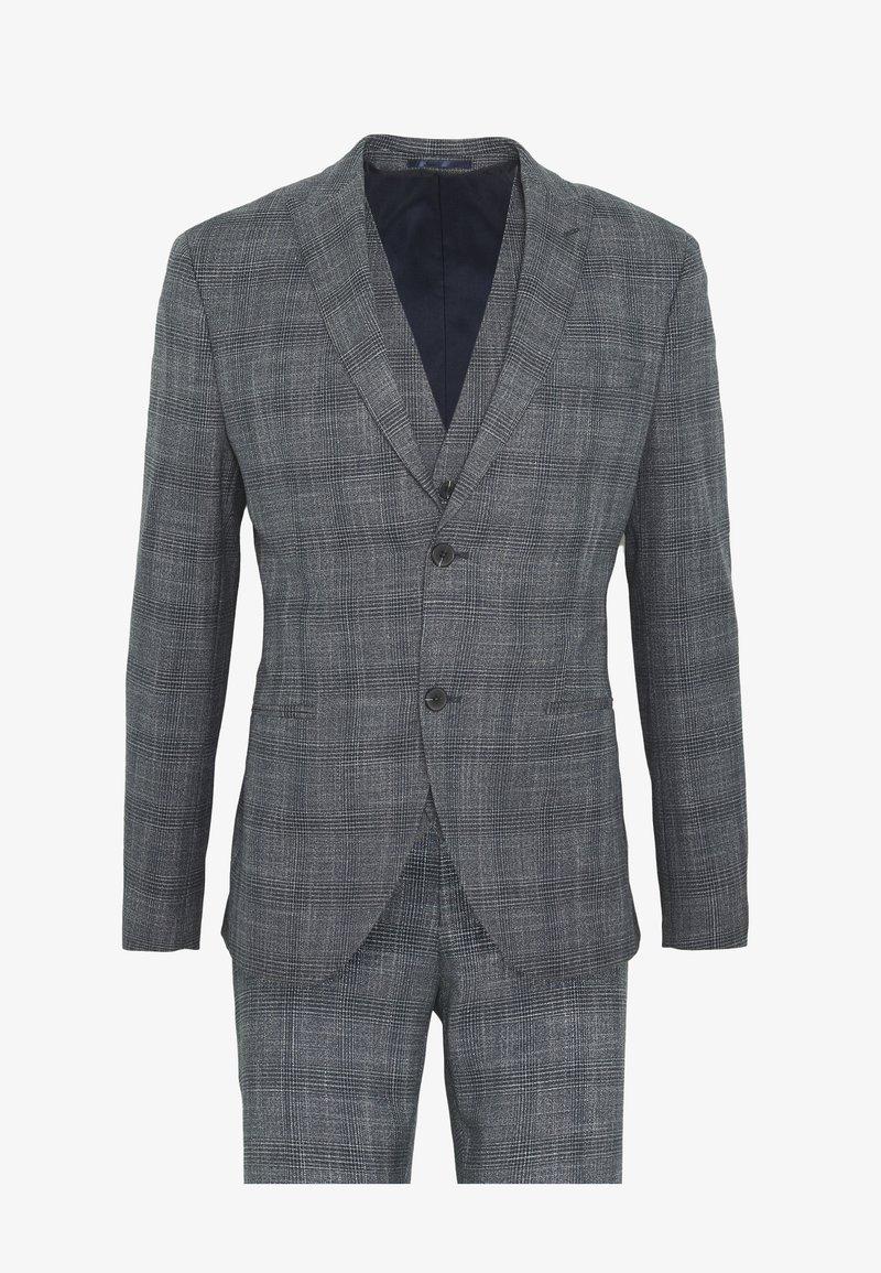Isaac Dewhirst - BLUE CHECK 3PCS SUIT SUIT - Suit - blue