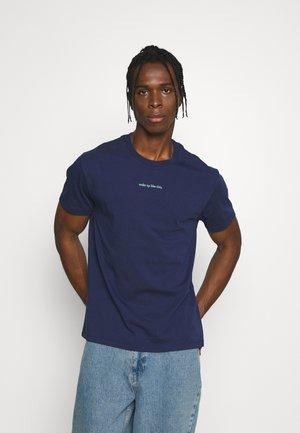 TEE POPIN WOKE UP LIKE THIS - T-shirt print - navy