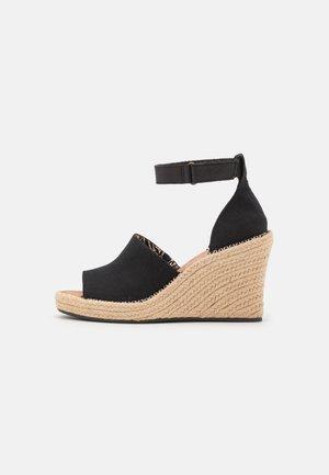 MARISOL - Wedge sandals - black oxford