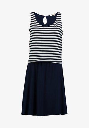 LAYERING DRESS - Jersey dress - navy