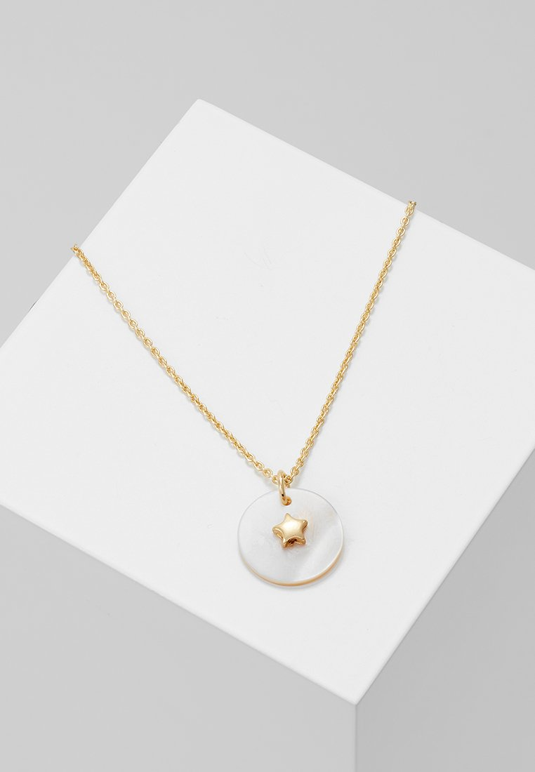 Orelia - STAR EMBELLISHED MOP DISC DITSY - Necklace - pale gold-coloured
