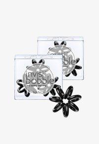 Invisibobble - NANO HAARGUMMI 2 PACK - Hair styling accessory - true black - 0