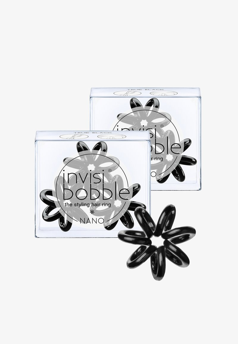 Invisibobble - NANO HAARGUMMI 2 PACK - Hair styling accessory - true black