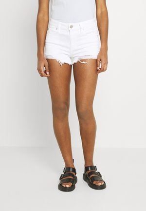 Shorts di jeans - white out destroy