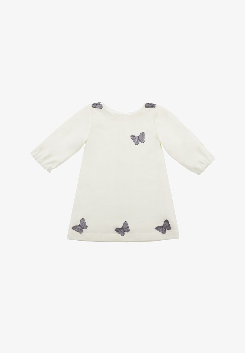 Evika Kids - WITH SILVER BUTTERFLIES - Day dress - white