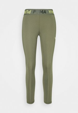 MODERN SPORTS BANDED - Tights - deep lichen green