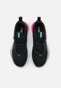 Puma - ZONE XT - Sports shoes - black/white/luminous pink/aruba blue - 3