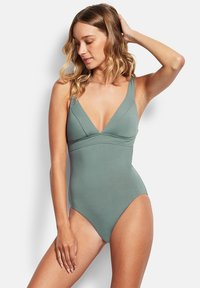 Seafolly - ACTIVE TRI ONE PIECE - Swimsuit - olive leaf - 0