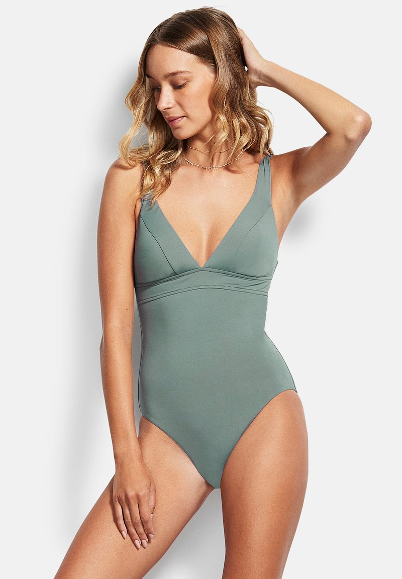 Seafolly - ACTIVE TRI ONE PIECE - Swimsuit - olive leaf