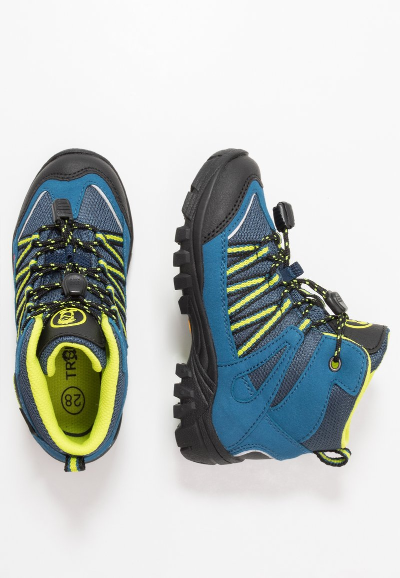 TrollKids - KIDS LOFOTEN MID - Hiking shoes - blue/lime