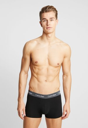 LOW RISE TRUNK 3 PACK - Pants - black