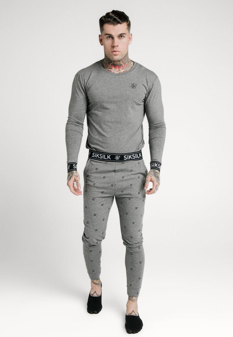 SIKSILK - LOUNGE TEE - Top sdlouhým rukávem - grey