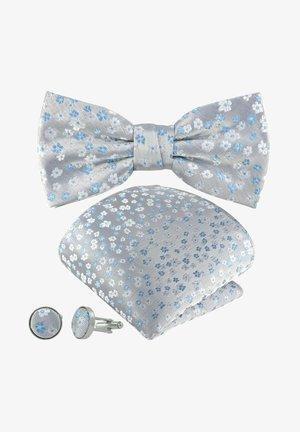 3-SET FLORES SCHLEIFE - Cufflinks - graublau silber blau himmelblau geblümt