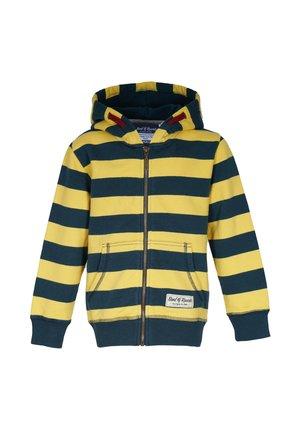 Zip-up hoodie - petrol-yellow