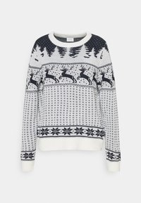 Vila - VICOMET CHRISTMAS - Jumper - snow white/navy - 4