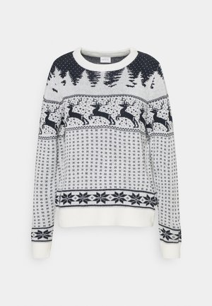 VICOMET CHRISTMAS - Jumper - snow white/navy