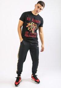 Ed Hardy - LA-CHEETAH T-SHIRT - Print T-shirt - black - 1