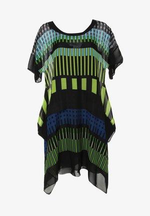 Day dress - schwarz, hellgrün