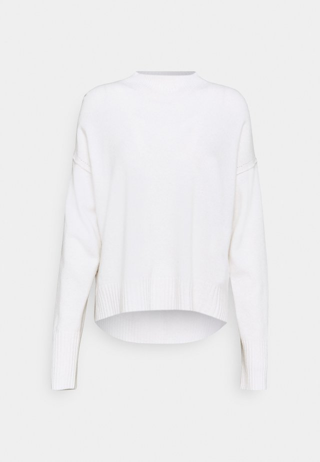 MOCK NECK - Pullover - pearl white