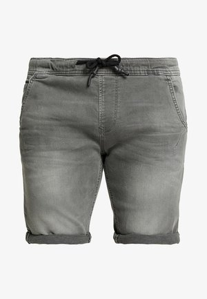 Denim shorts - clean bleached grey denim