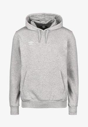 Hoodie - grey marl / white