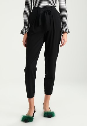 ONLNICOLE PAPERBAG  - Trousers - black