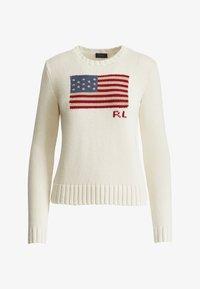 Polo Ralph Lauren - FLAG - Pullover - cream/multi - 3
