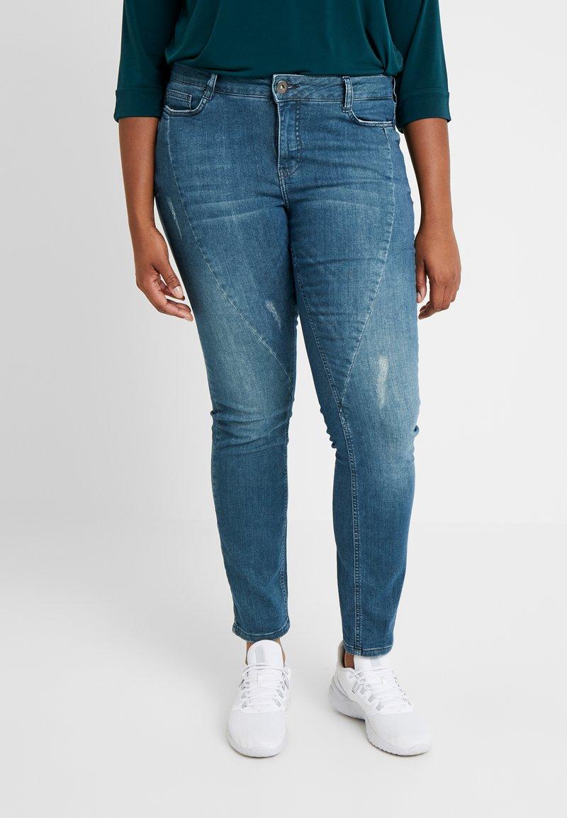 JUNAROSE - by VERO MODA - JRFIVESANLI - Jeans Skinny Fit - dark blue denim