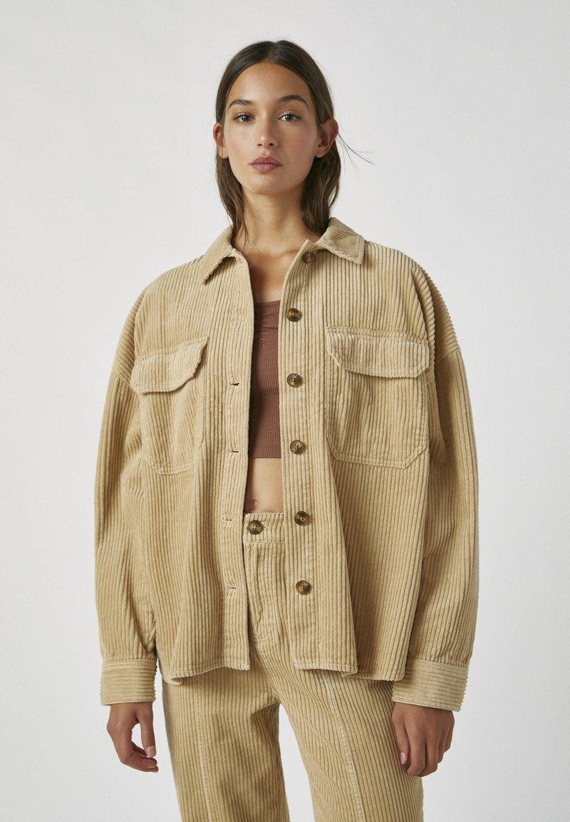 PULL&BEAR - Button-down blouse - brown