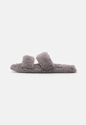 QUILTED TWO BAR SLIDER - Pantofole - grey