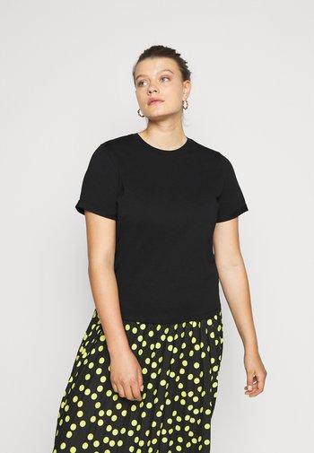 PCRIA FOLD UP SOLID TEE - Basic T-shirt - black