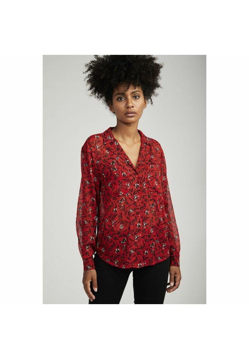 NAF NAF - Button-down blouse - red