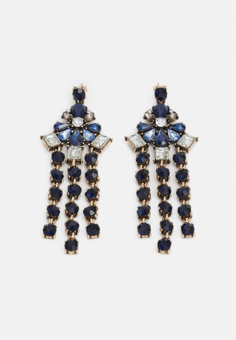 Pieces - PCLOLLU EARRINGS - Boucles d'oreilles - gold-coloured/blue