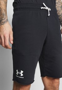 Under Armour - RIVAL TERRY SHORT - Sports shorts - black - 4