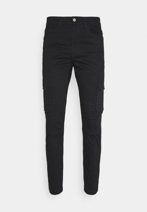 PANTS - Pantaloni cargo - black