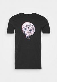 PS Paul Smith - MENS SLIM FIT SKULL - Print T-shirt - black - 4